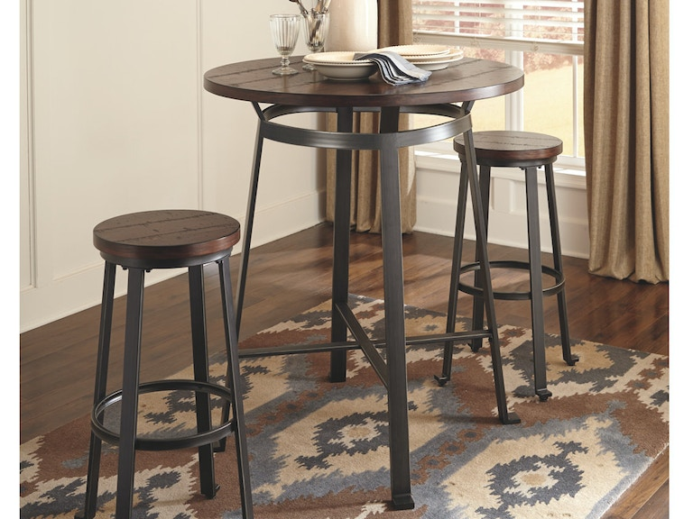 Ashley Challiman Round Dining Room Bar Table D307 12