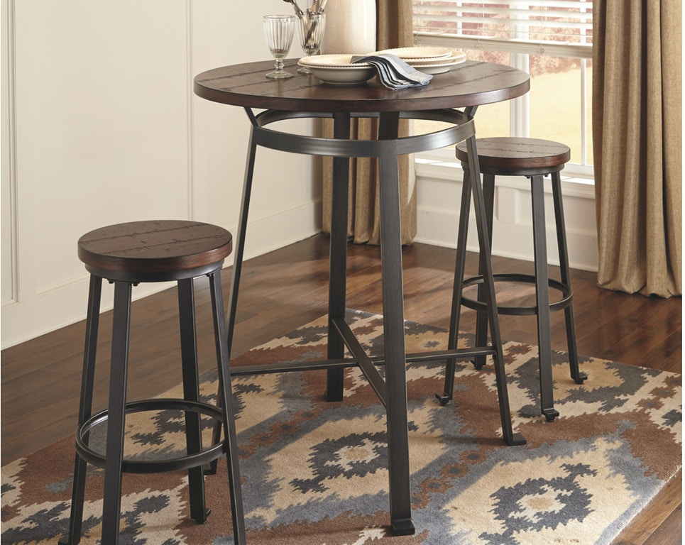 Ashley Round Dining Room Bar Table D307 12 In Portland Oregon