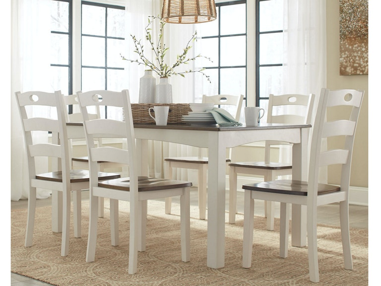 Ashley Woodanville Dining Room Table Set (7/CN) D335-425 - Portland ...