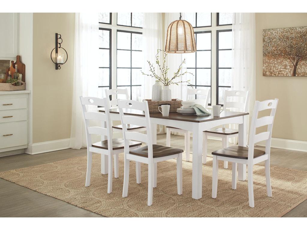 Ashley Dining Room Sets. Ashley Dining Room Table Set  7 CN D335 425 in Portland Woodanville