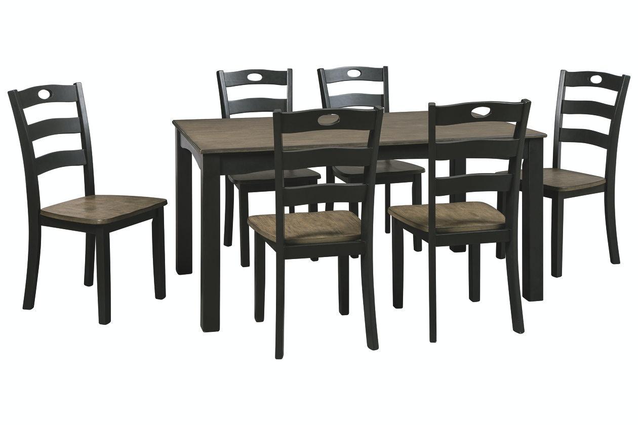 Ashley Dining Room Table Set (7/CN) D338-425 in Portland  sc 1 st  KEY Home Furnishings & Ashley Froshburg Dining Room Table Set (7/CN) D338-425 - Portland ...