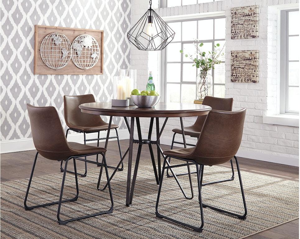 Ashley Centiar Round Dining Room Table D372 15 Portland Or Key
