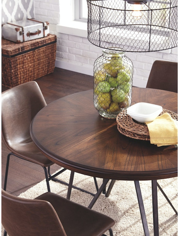 Ashley Round Dining Room Table D372 15 In Portland Oregon