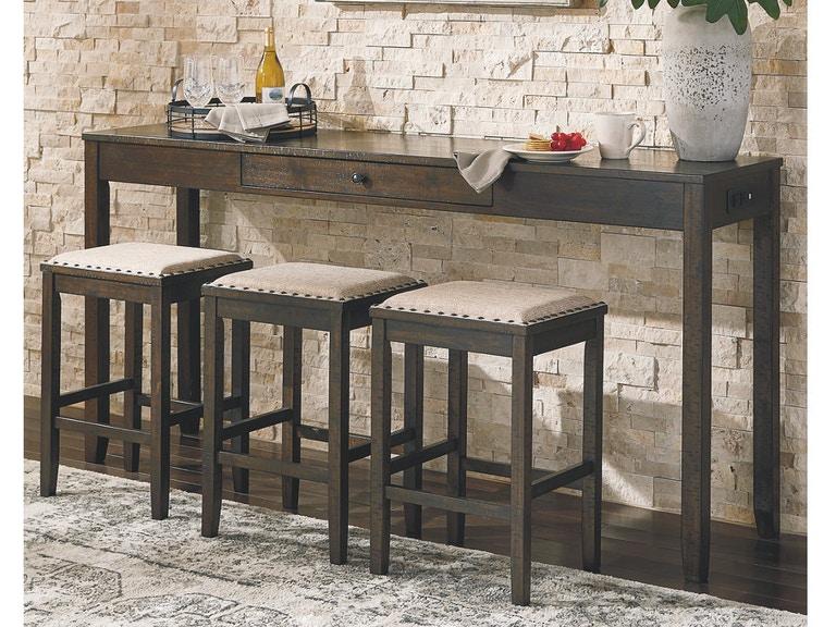 Ashley Rokane Counter Height Dining Room Table and Bar ...