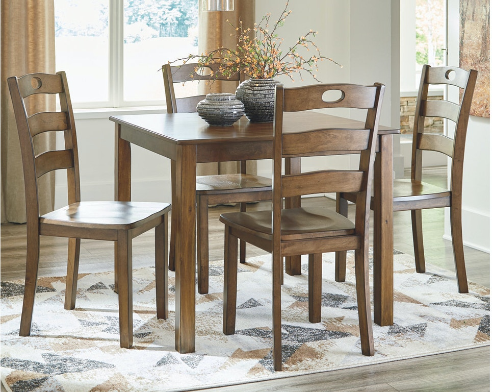 Ashley Hazelteen Dining Room Table And Chairs Set Of 5