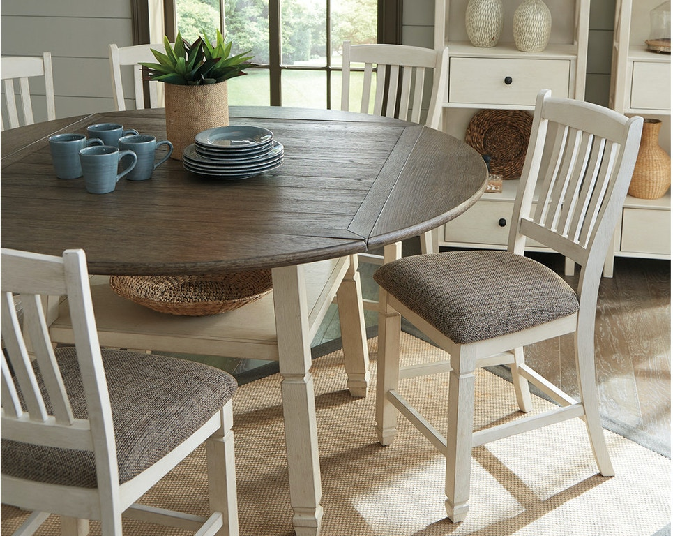 Ashley Bolanburg Counter Height Dining Room Drop Leaf Table D647 13 Portland Or Key Home