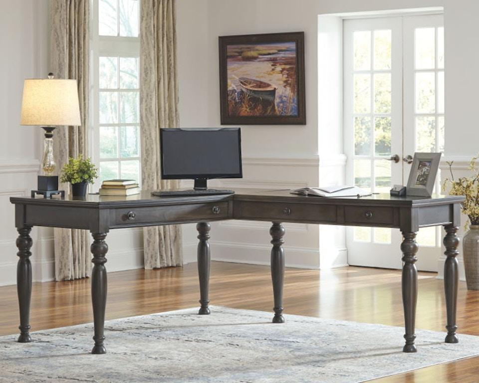 Terrific Ashley Devensted Home Office Desk Return H624 34R Portland Download Free Architecture Designs Scobabritishbridgeorg