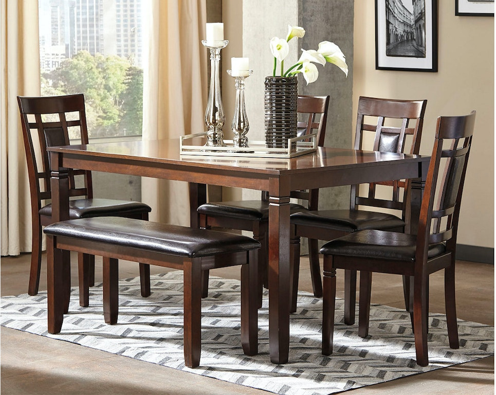 Ashley Bennox Dining Room Table Set (6/CN) D384-325 - Portland, OR ...