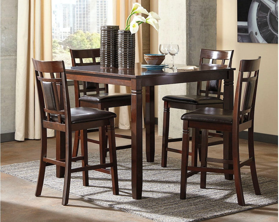 b3f6aa6f6ef53c Ashley Coviar Counter Height Dining Room Table and Bar Stools (Set of 5)  D385