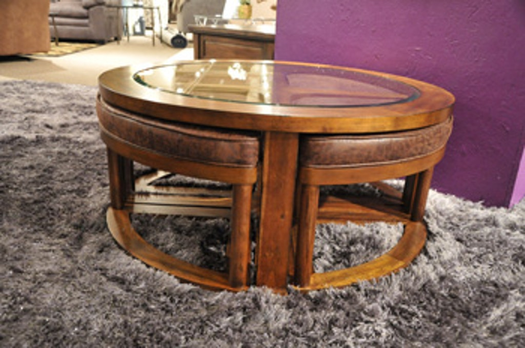 Ashley Hannery Coffee Table With Stools Set Of 5 T725 8 Portland Or Key Home Furnishings
