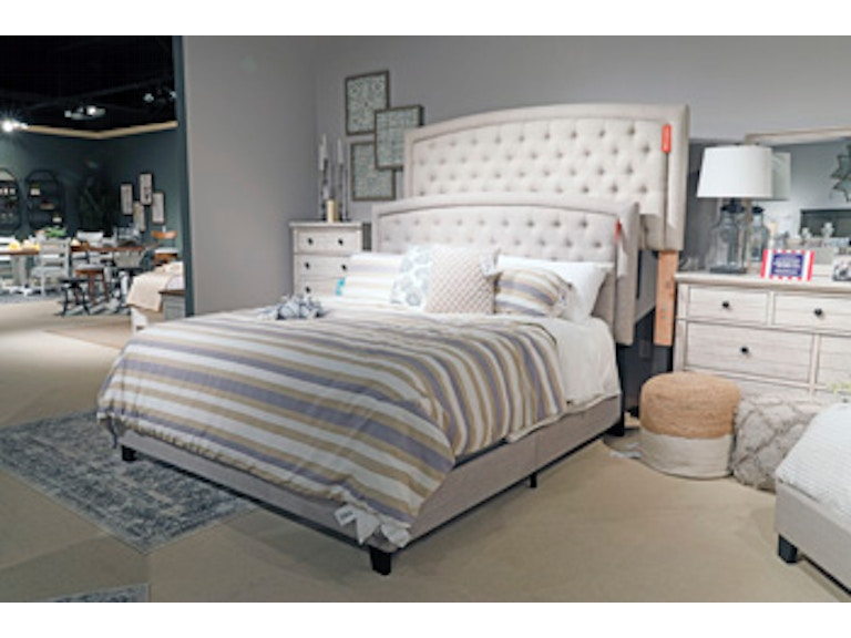 Ashley Jerary King Upholstered Bed B090 782 Portland Or Key Home Furnishings