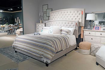 Ashley Jerary Queen Upholstered Bed B090 781 Portland Or Key Home Furnishings