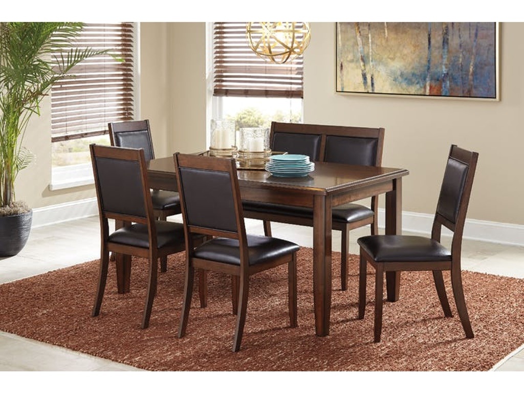Ashley Meredy Dining Room Table Set (6/CN) D395-325 - Portland, OR ...