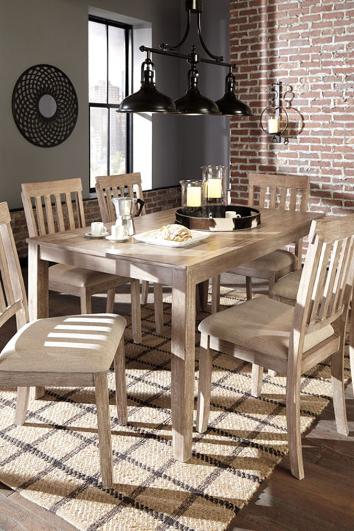Ashley Mattilone Dining Room Table Set (7/CN) D484-425 - Portland ...
