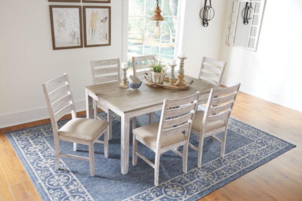 Ashley Skempton Dining Room Table And Chairs Set Of 7 D394 425
