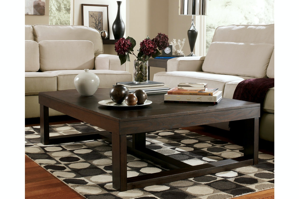 Ashley Rectangular Cocktail Table T481-1 & Coffee Sofa \u0026 End Tables and More - Portland OR   Key Home ...