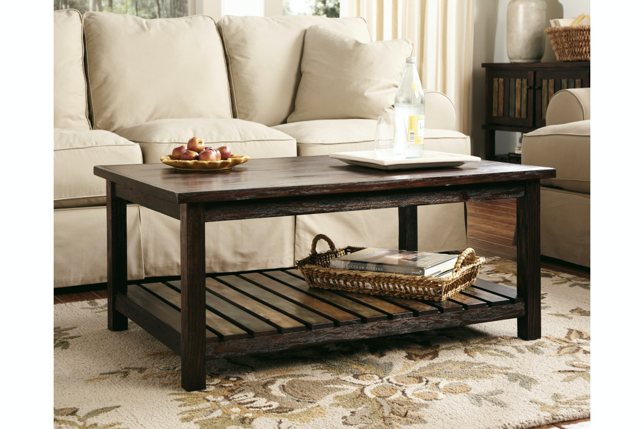 Ashley Rectangular Cocktail Table T580-1 & Coffee Sofa \u0026 End Tables and More - Portland OR   Key Home ...