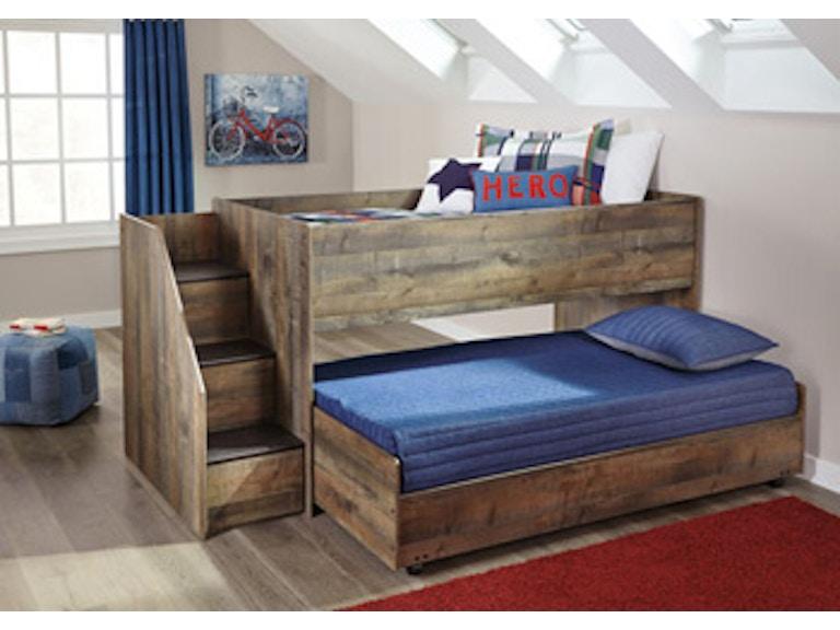 Ashley Trinell Twin Loft Caster Bed B446 68b