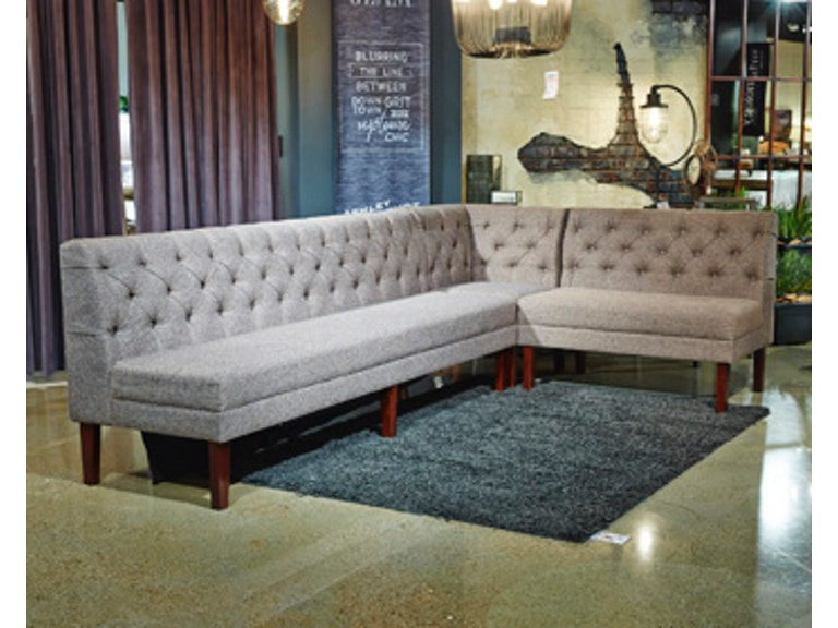 Ashley Tripton Corner Upholstered Bench D530 07 Stretch The Possibilities Of Dining Room