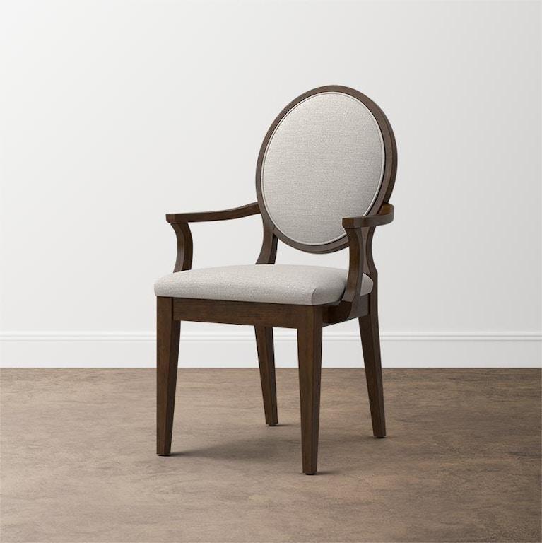 Bassett Custom Dining Oval X-Back Uph Arm Chair (QTY 2 ...