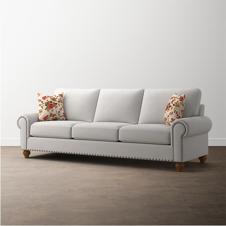 Custom Sofa Portland Oregon: Bassett Custom Upholstery Grand Sofa 3/3 C000-92SF