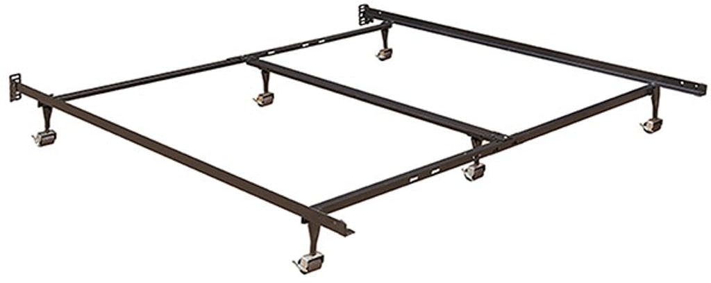 Emerald Home Furnishings Metal Bed Frame W Center Support Fr2145qkc