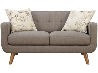 Emerald Home Furnishings Loveseat Brown w/2 Accent Pillows U3789-01-05