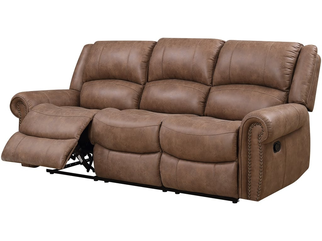Emerald home furnishings spencer motion sofa sanded for Sofa by design lake oswego