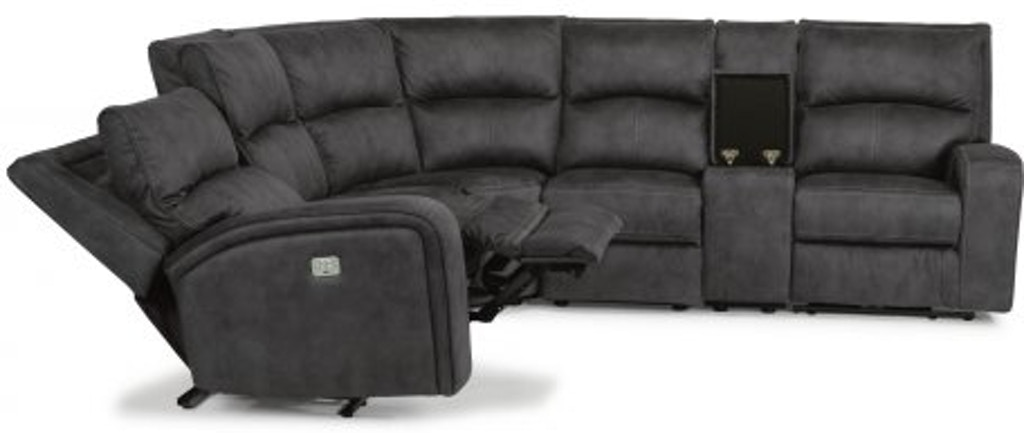 Flexsteel Fabric Power Reclining Sectional With Power