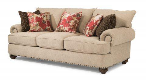 Beau Flexsteel Fabric Sofa With Nailhead Trim 7322 31 In Portland, Oregon