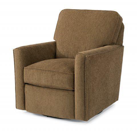 Awesome Flexsteel Fabric Swivel Chair 0108 11 In Portland, Oregon