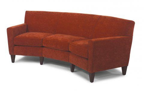 Flexsteel Leather Conversation Sofa 3966 323 In Portland, Oregon