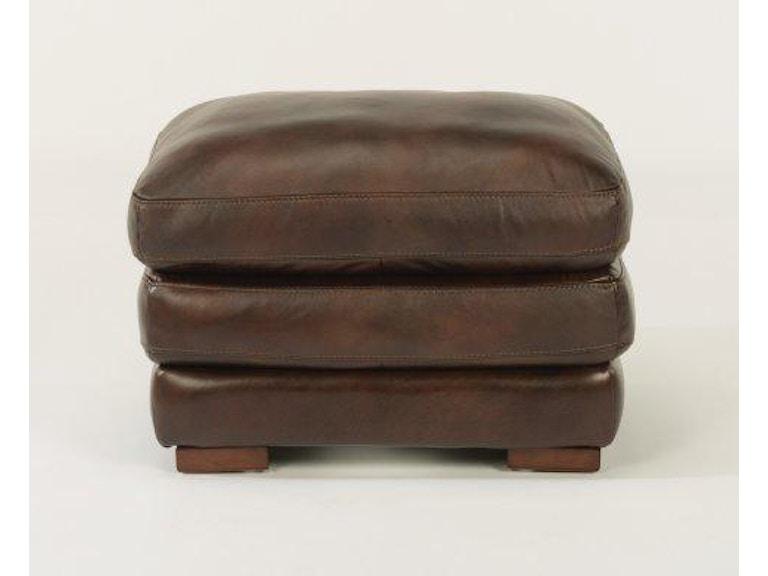 Flexsteel Leather Ottoman Without Nailhead Trim 1127 08