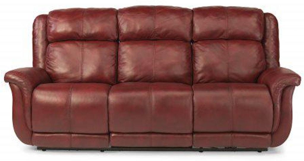 Flexsteel Brookings Leather Power Reclining Sofa 1251 62p