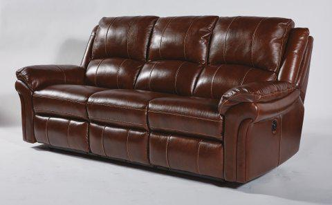 Flexsteel Leather Power Reclining Sofa 1351 62P In Portland, Oregon