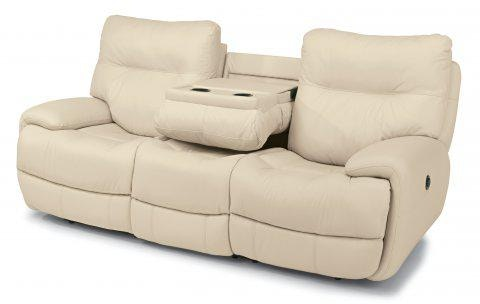 Flexsteel Evian Leather Power Reclining Sofa 1447 62P 675 12 In Portland,