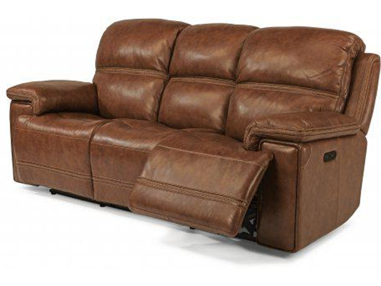 Flexsteel Leather Power Reclining Sofa With Power Headrests 1659-62PH - Portland, OR