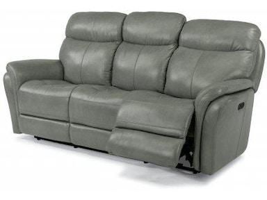 Flexsteel Zoey Leather Power Reclining Sofa With Power