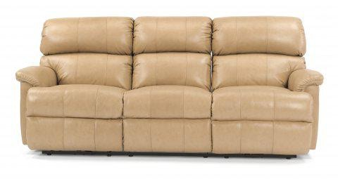Flexsteel Leather Reclining Sofa 3066 62 In Portland, Oregon