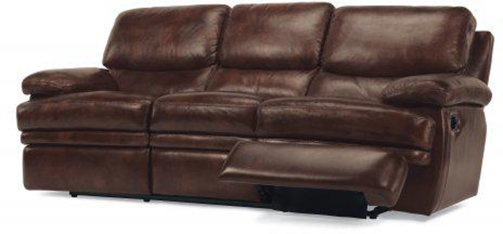 Flexsteel Laudes Leather Reclining Sofa Without Chaise Footrests 1127 62 908 72 In