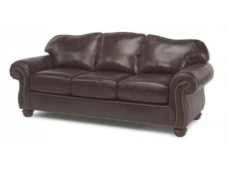 Flexsteel Leather Sofa With Nailhead Trim 3648 31 In Portland Oregon