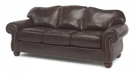 Flexsteel Leather Sofa With Nailhead Trim 3648 31 In Portland, Oregon