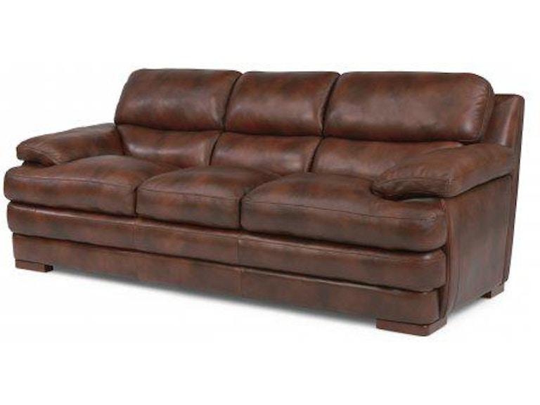 Flexsteel Leather Three Cushion Sofa Without Nailhead Trim 1127 31 In Portland Oregon