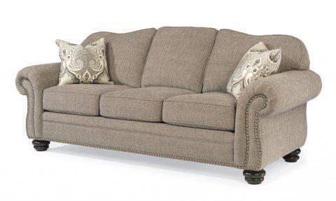 Flexsteel One Tone Fabric Sofa With Nailhead Trim 8648 31 In Portland,  Oregon
