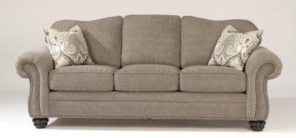 Flexsteel One Tone Fabric Sofa With Nailhead Trim 8648 31 In Portland Oregon