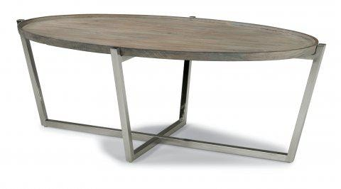 Attirant Flexsteel Oval Coffee Table W1433 033 In Portland, Oregon