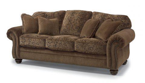 Flexsteel Two Tone Fabric Sofa With Nailhead Trim 8649 31 In Portland,  Oregon
