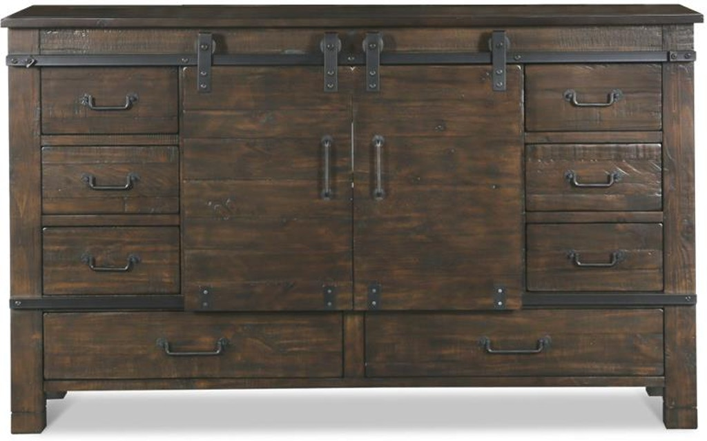 Magnussen Home Pine Hill Sliding Door Dresser B3561 24 Portland Or Key Home Furnishings