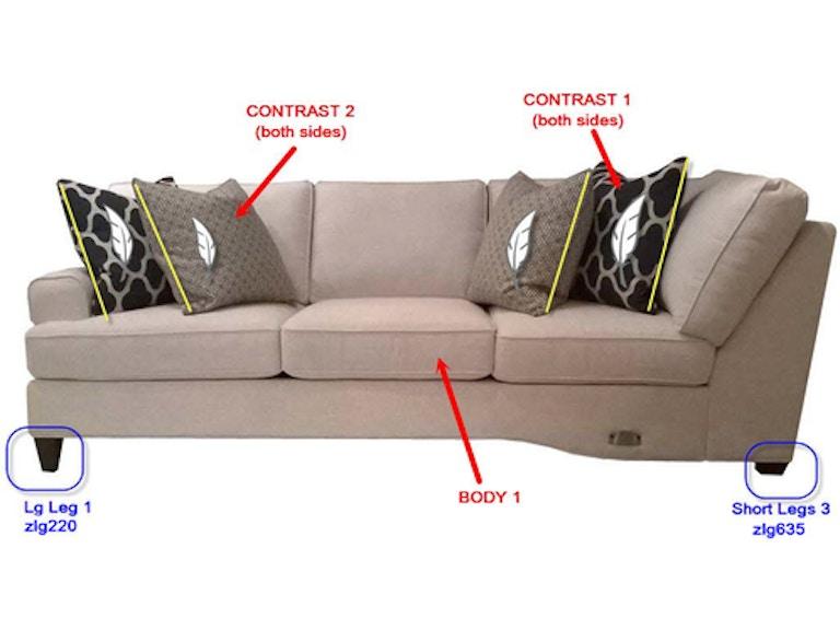 Stanton Furniture Left Side Facing Tux Sofa 26710l In Portland Oregon