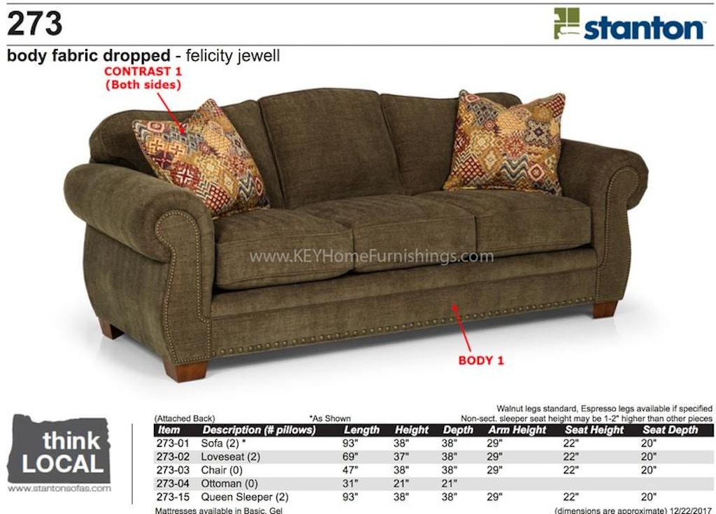 Stanton Furniture 3 Cushion Sofa 27301 In Portland Oregon